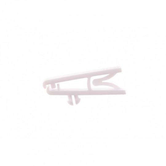 Clip plastique blanc