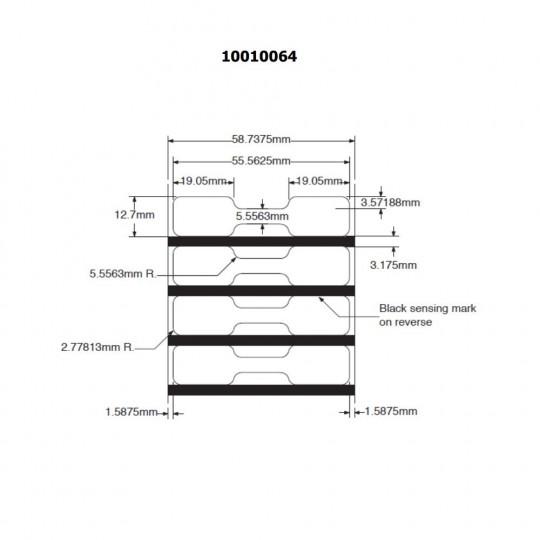 56x13mm - Etiquette ZEBRA 8000D Bijouterie - Réf : 10010064