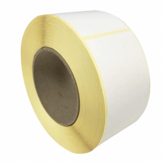 80x23,4mm - Étiquette Velin Blanc Adhésif Permanent - Réf: GB-00363