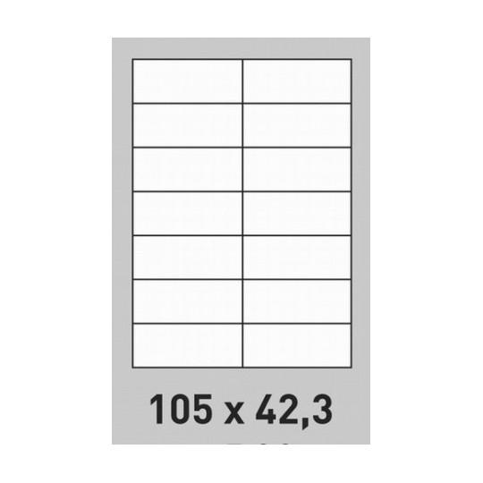 Etiquette en planche 105 x 42,3 mm-1 400 étiquettes-Réf : 1417