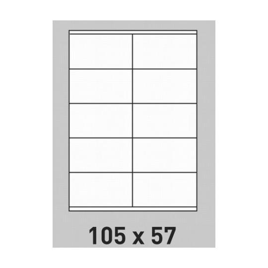 Etiquette en planche 105 x 57 mm-1 000 étiquettes-Réf : 0181