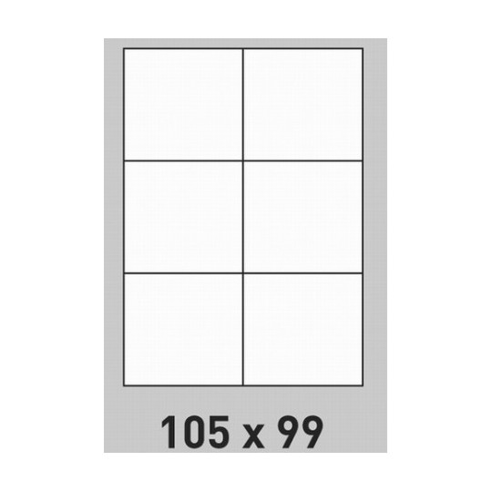 Etiquette en planche 105 x 99 mm-600 étiquettes-Réf : 0183