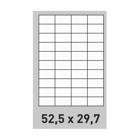 Etiquette en planche 52,5 x 29,7 mm-8 000 étiquettes-Réf : 0190