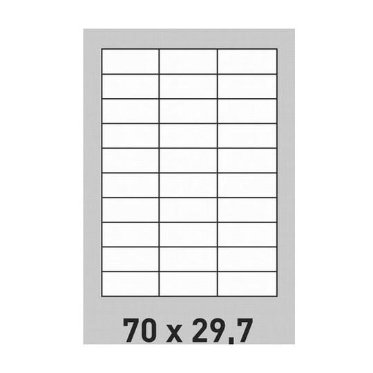 Etiquette en planche 70 x 29,7 mm- 6 000 étiquettes-Réf : 0191