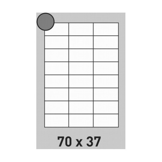 Etiquette en planche 70 x 37 mm- 12 000 étiquettes-Réf : 2648