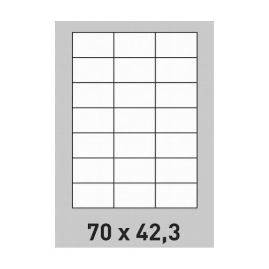 Etiquette en planche 70 x 42,3 mm- 10 500 étiquettes-Réf : 2649