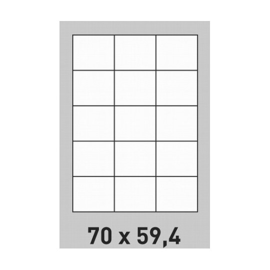 Etiquette en planche 70 x 59,4 mm- 3 000 étiquettes-Réf : 1414