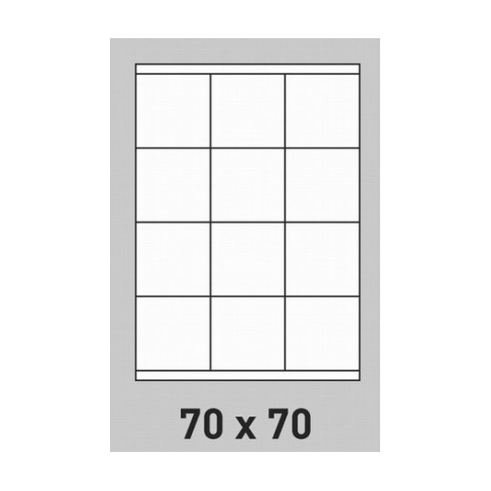 Etiquette en planche 70 x 70 mm- 2 400 étiquettes-Réf : 0196