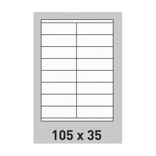Etiquette en planche 105 x 35 mm - 3 200 étiquettes-Réf : 0197