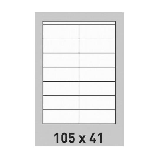 Etiquette en planche 105 x 41 mm-2800 étiquettes Réf : 0199