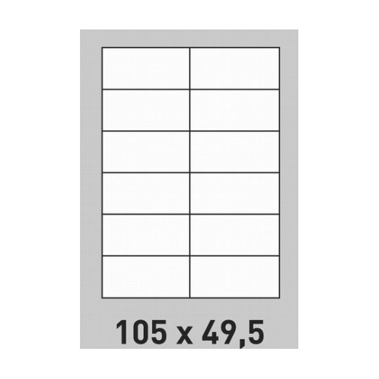 Etiquette en planche 105 x 49,5 mm-2 400 étiquettes-Réf : 0200