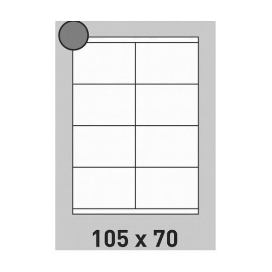 Etiquette en planche 105 x 70 mm-1 600 étiquettes-Réf : 0201