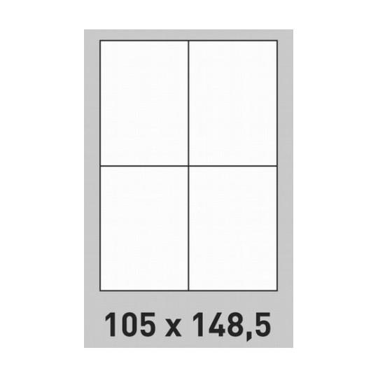 Etiquette en planche 105 x 148,5 mm- 800 étiquettes-Réf : 0202