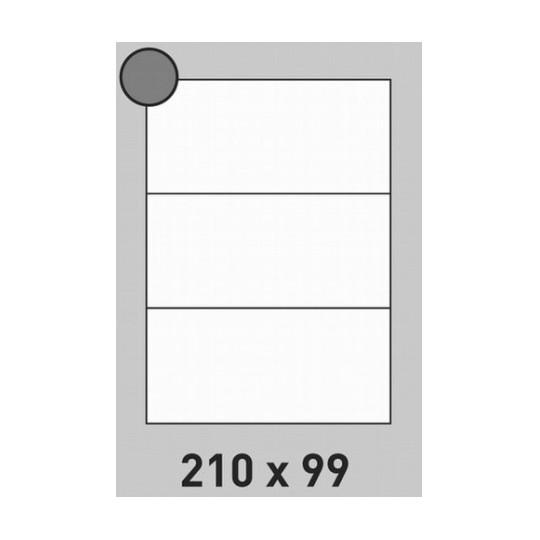 Etiquette en planche 210 x 99 mm-600 étiquettes- Réf : 0204