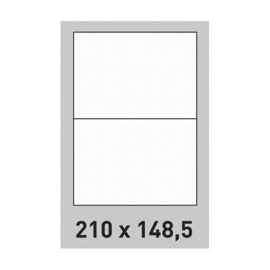 Etiquette en planche 210 x 148,5 mm -400 étiquettes- Réf : 0205