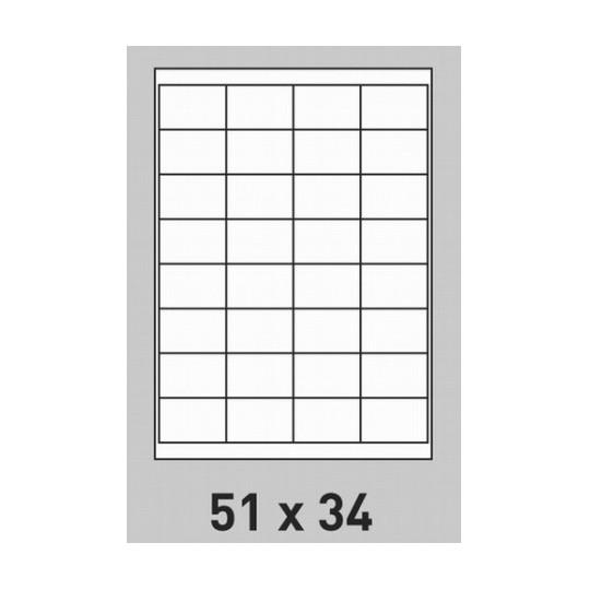 Etiquette en planche 51 x 34 mm -16 000 étiquettes- Réf : 2640