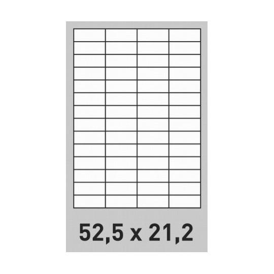 Etiquette en planche 52,5 x 21,2 mm- 28 000 étiquettes- Réf : 2643