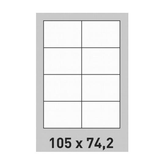 Etiquette en planche 105 x 74,2 mm- 4 000 étiquettes -Réf : 3154