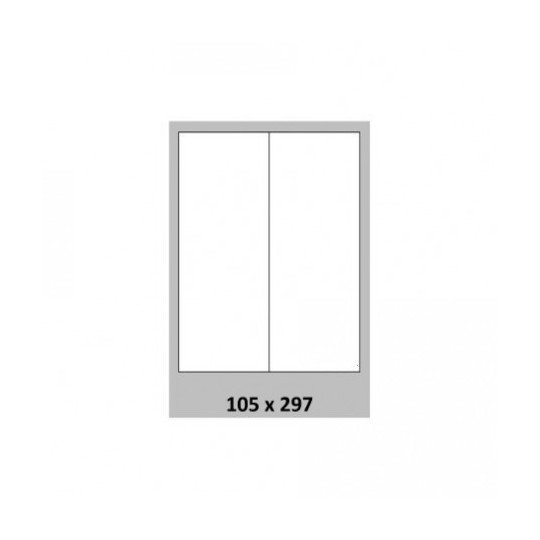 Etiquette en planche 105 x 297 mm - 1 000 étiquettes- Réf : 3669