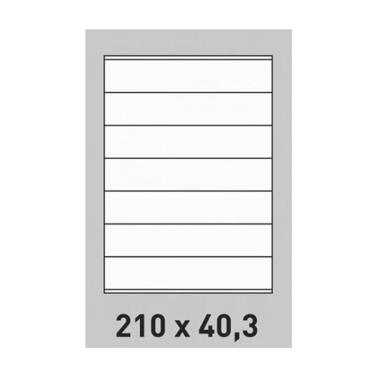 Etiquette en planche 210 x 40,3 mm- 3 500 étiquettes-Réf : 3156