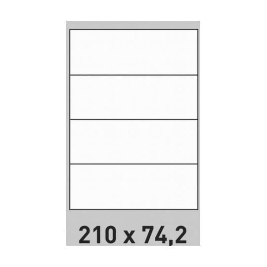 Etiquette en planche 210 x 74,2 mm- 2 000 étiquettes - Réf : 2654