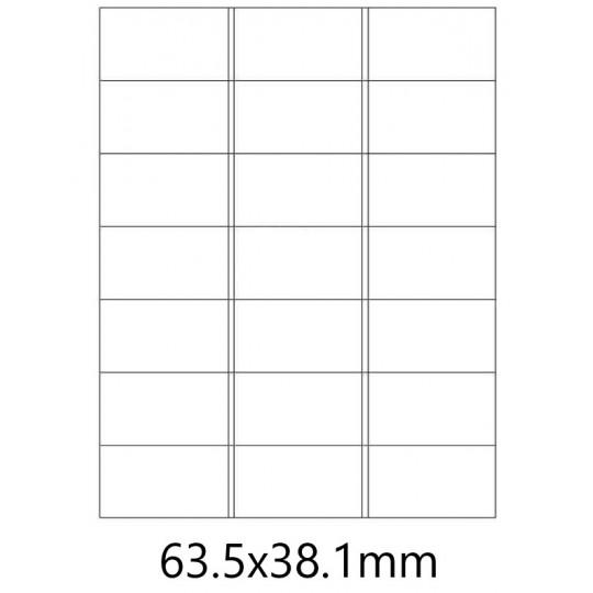 Etiquette en planche 63,5 x 38,1 mm- 2 100 étiquettes- Réf : 0165