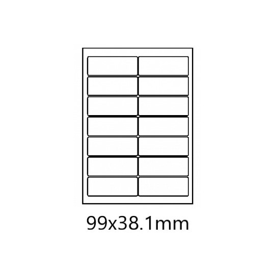 Etiquette en planche 99 x 38,1 mm -1 400 étiquettes-Réf : 0172