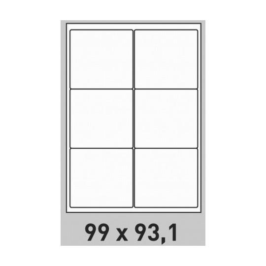 Etiquette en planche 99 x 93,1 mm- 600 étiquettes- Réf : 0174
