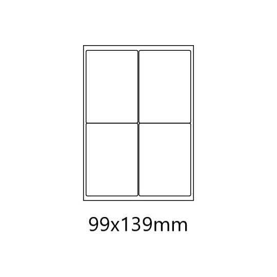 Etiquette en planche 99 x 139 mm - 4 000 étiquettes -10 Boîtes-Réf : 0175X10