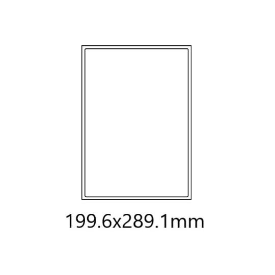 Etiquette en planche 199,6 x 289,1 mm-100 étiquettes- Réf : 0185