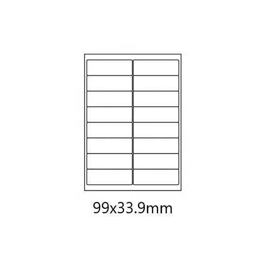 Etiquette en planche 99 x 33,9 mm - 8 000 étiquettes Réf : 3158