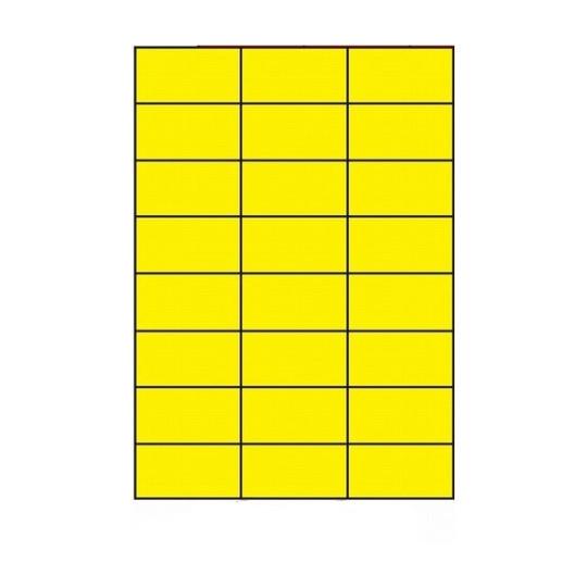 Etiquette en planche jaune 70 x 37 mm-2 400 étiquettes - Réf : 3160