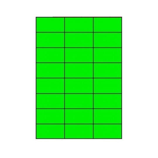 Etiquette en planche verte 70 x 37 mm-2 400 étiquettes - Réf : 3389