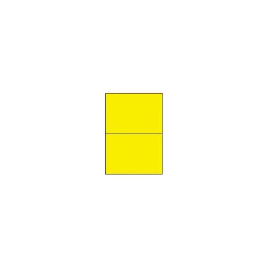 Etiquette en planche jaune 210 x 148,5 mm- 200 étiquettes- Réf : 3670