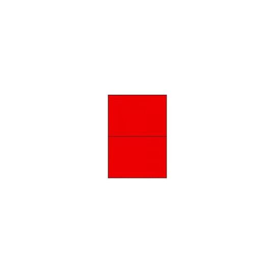 Etiquette en planche rouge 210 x 148,5 mm- 200 étiquettes - Réf : 3671