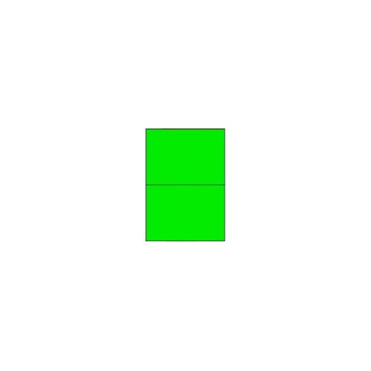 Etiquette en planche verte 210 x 148,5mm - 200 étiquettes - Réf : 3672
