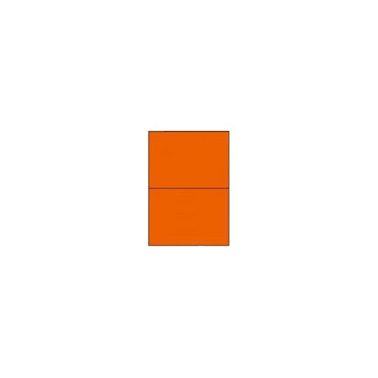 Etiquette en planche orange 210 x 148,5mm - Réf  : 4035