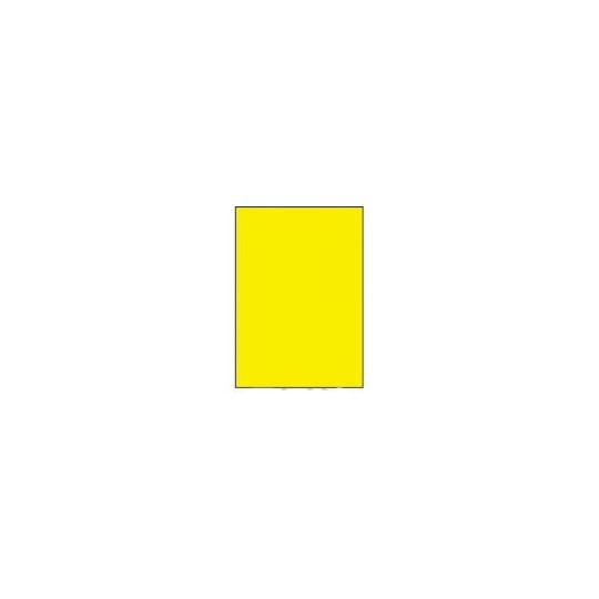 Etiquette en planche A4 jaune 210 x 297 - Réf : 3394