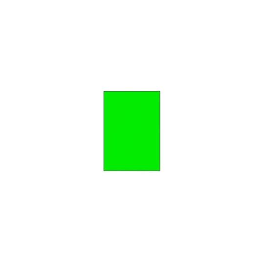 Etiquette en planche verte A4 210 x 297mm - Réf : 3396