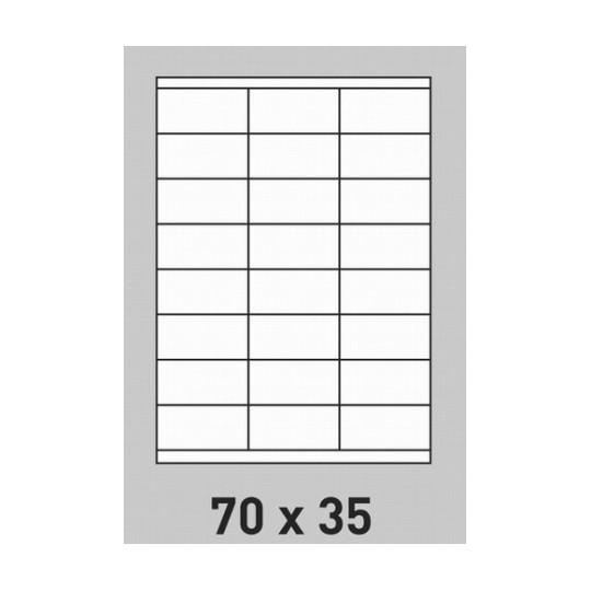 Etiquettes en planche A4 adhésif enlevable 70 x 35 mm - Réf : 0264