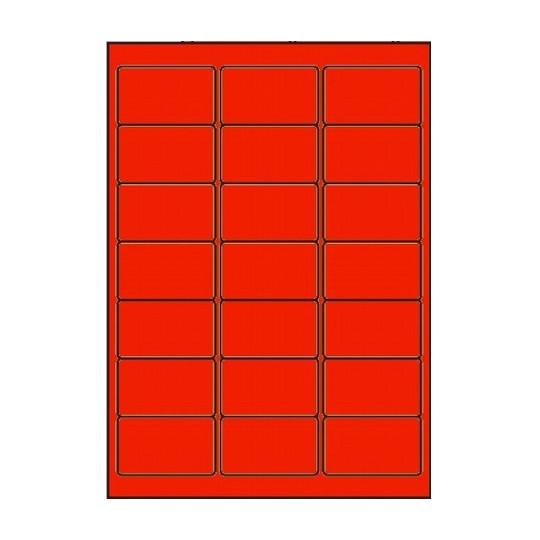 Etiquette en planche Rouge 63,5 x 38,1 mm - Réf : 2605
