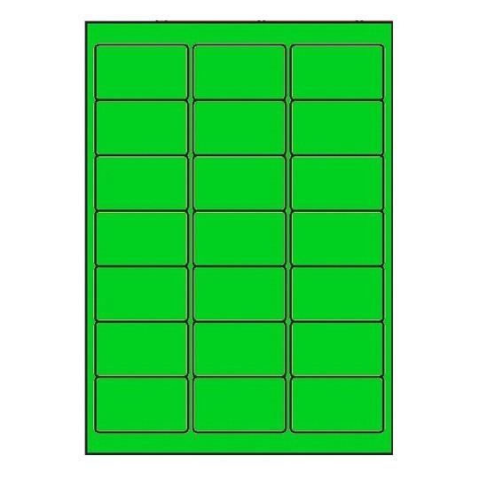 Etiquette en planche verte 63,5 x 38,1 mm - Réf : 2614