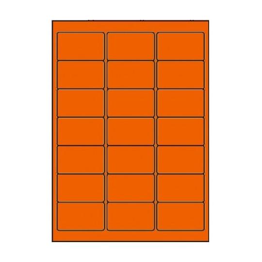 Etiquette en planche orange 63,5 x 38,1 mm - Réf : 4028