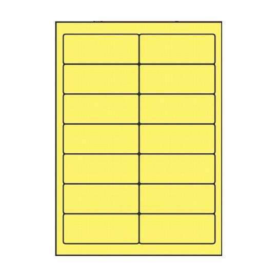 Etiquette en planche jaune 99 x 38,1 mm - Réf : 2624