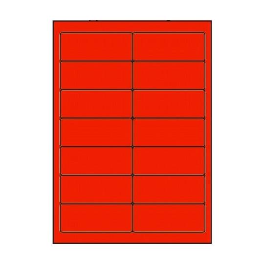 Etiquette en planche rouge 99 x 38,1 mm - Réf : 2625