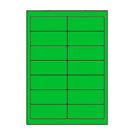 Etiquette en planche verte 99 x 38,1 mm - Réf : 2626