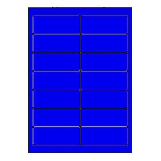 Etiquette en planche bleu 99 x 38,1 mm - Réf : 2627