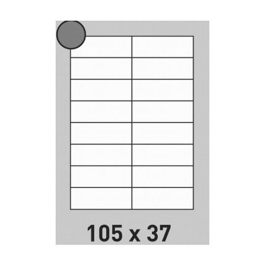 Etiquette en planche 105 x 37 mm-1 600 étiquettes-Réf : 0178