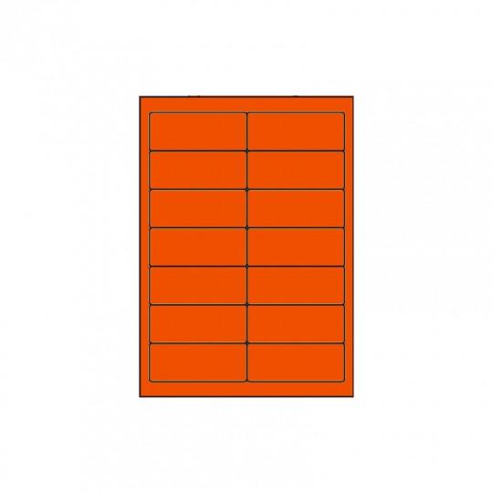 Etiquette en planche orange 99 x 38,1 mm - Réf : 3973