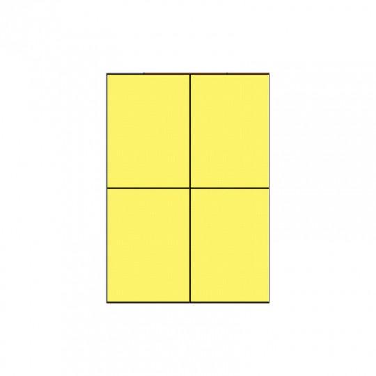 Etiquette en planche jaune 105 x 148,5 mm - Réf : 3390